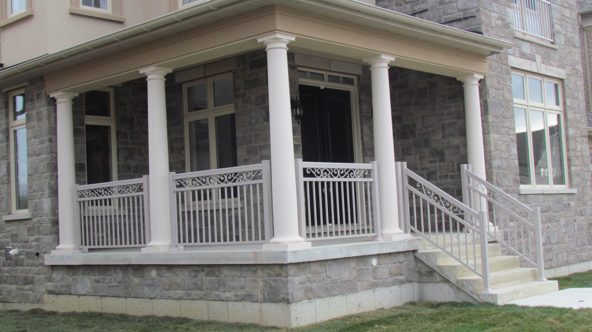 porch ltd exterior manalco img and railings contracting columns posts est aluminum