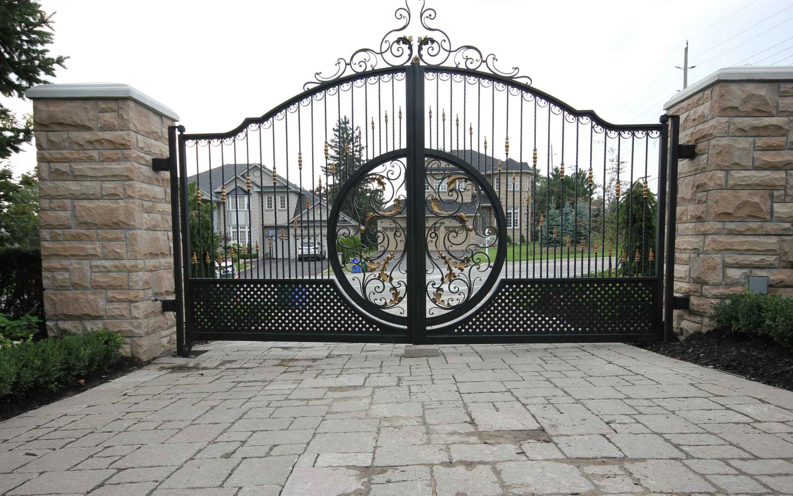 Exterior Wrought Iron Fencing