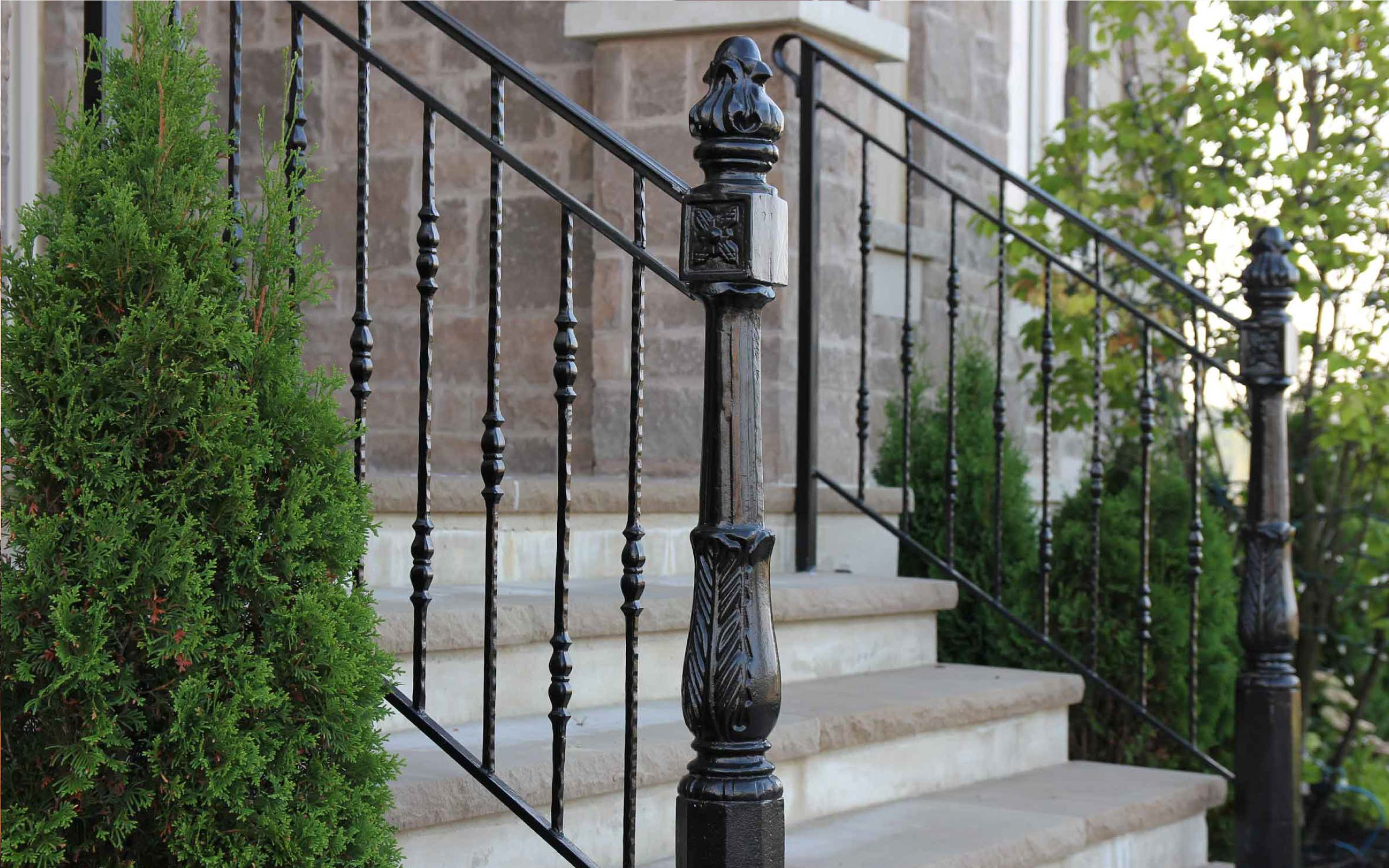 Exterior Wrought Iron Railings