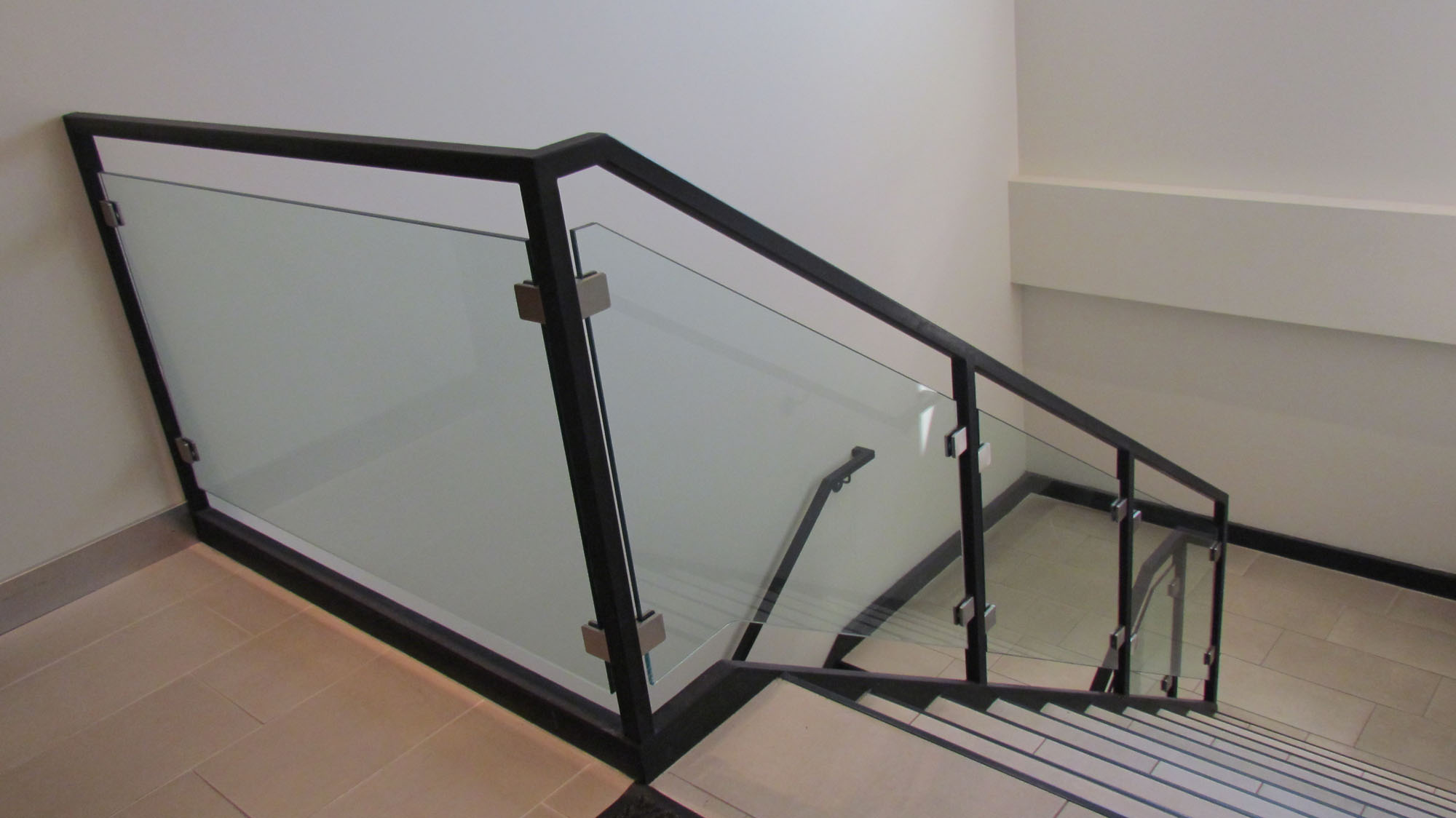 glass handrail systems calgary railings deck gallery services spotlight exterior interior ac