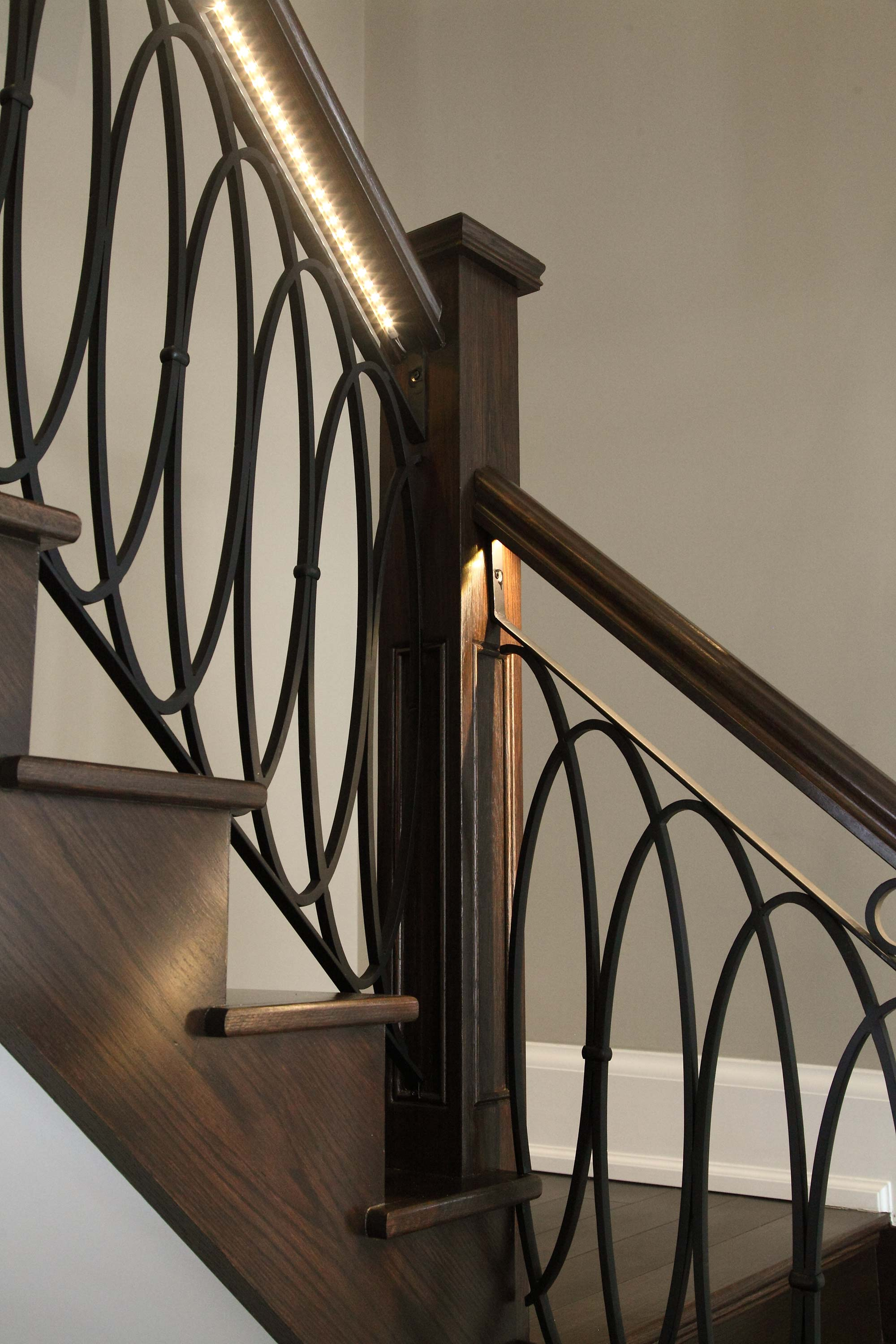 wrought iron interior stair railings canadian railings 11843